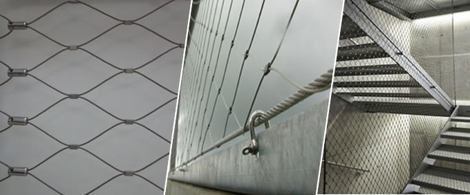 Ferruled Stainless Steel Wire Rope Mesh